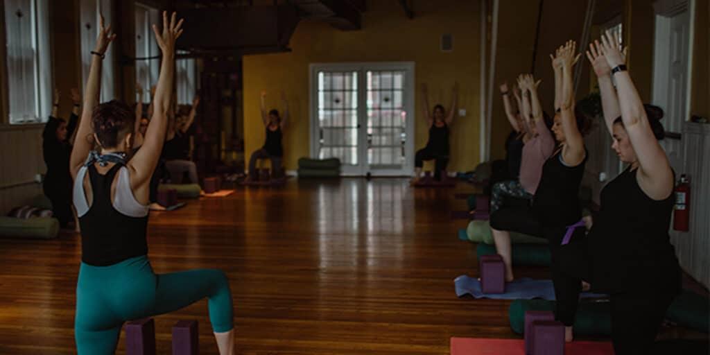 Small Magic Birth Yoga class for women